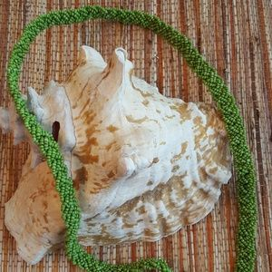 About Color Accessories - About Color Green Beaded Belt or Necklace